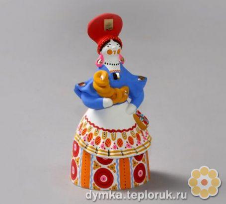 Дымковская игрушка барыня как сделать фото 732